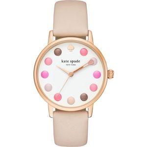 KATE SPADE New York Metro Three-Hand Leather Watch